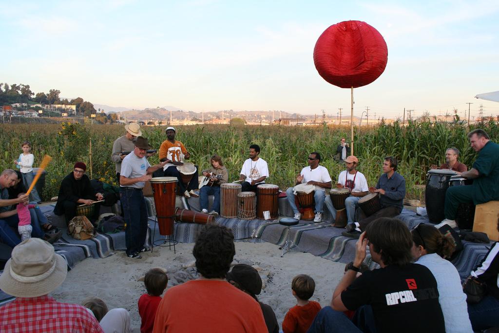 medium sized drum circle