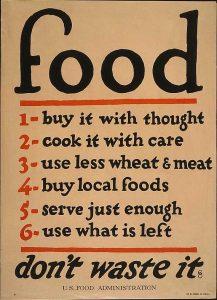 Tips for conserving food.